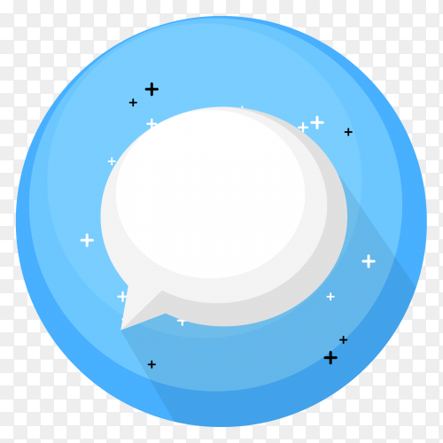 Comment social media icon design on transparent background PNG