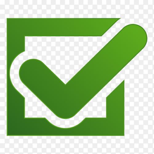 Correct icon design premium vector PNG