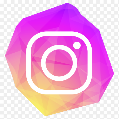Creative crystal Instagram icon design on transparent background PNG