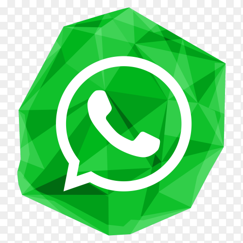 Creative crystal WhatsApp icon design clipart PNG
