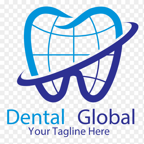 Dental Global logo on transparent background PNG