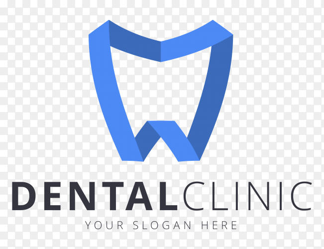 Dental clinic logo on transparent background PNG