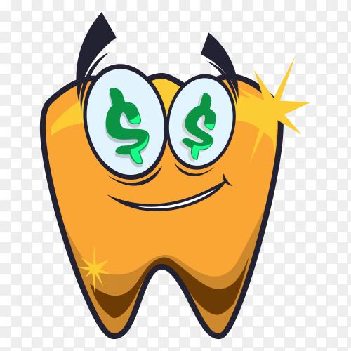 Dental design illustration on transparent background PNG