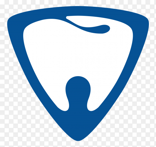 Dental logo on transparent background PNG