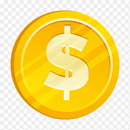 Dollar illustration on transparent background PNG
