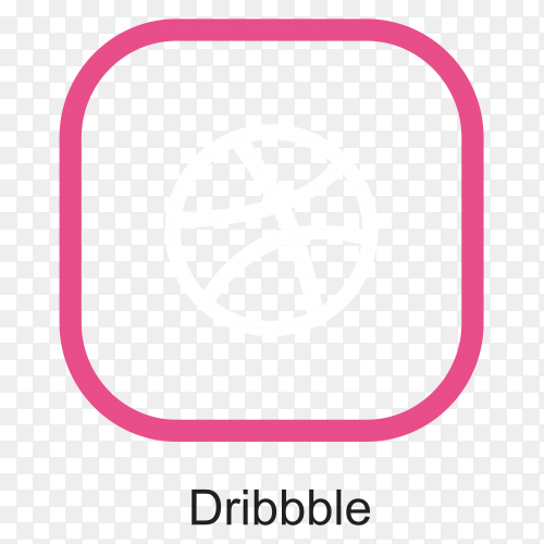 Dribble icon design illustration on transparent background PNG