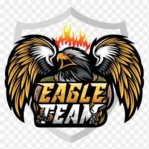 Eagle mascot esport logo on transparent background PNG