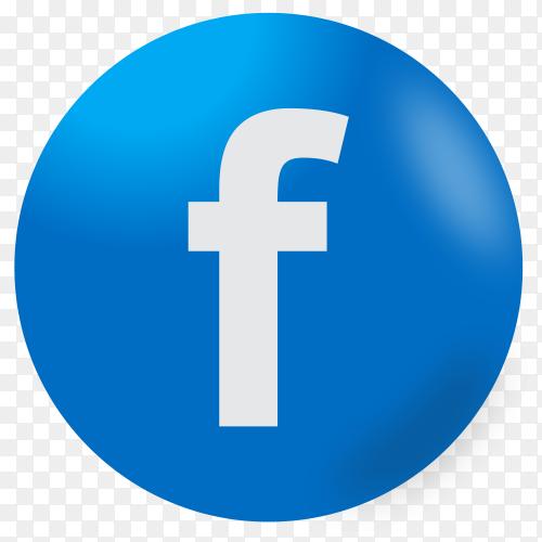 Facebook icon design premium vector PNG