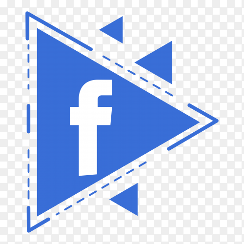 Facebook icon illustration on transparent background PNG