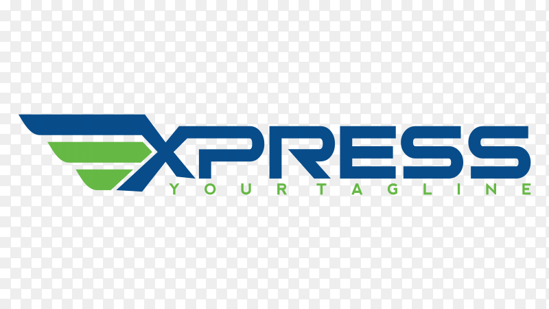 Fast forward express logo premium vector PNG