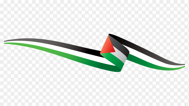Flag Palestine isolated on transparent background PNG
