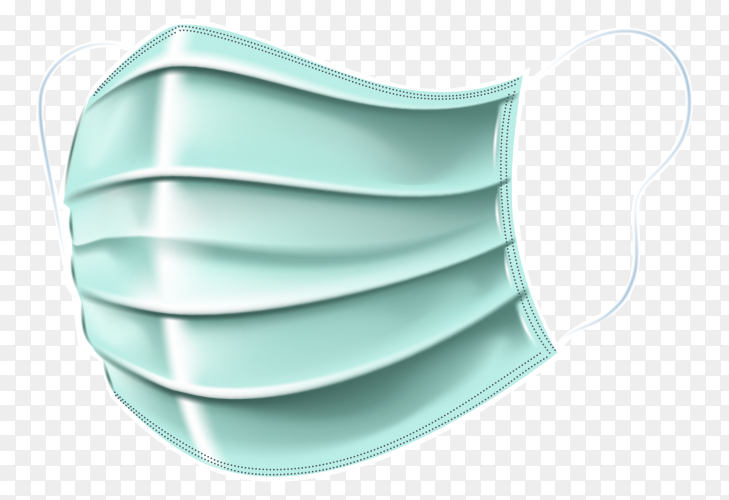 Flat design medical mask  on transparent background PNG