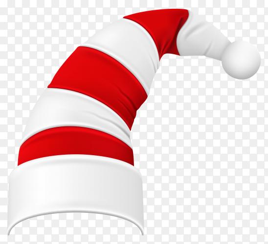 Flat design santa's hat illustration on transparent background PNG