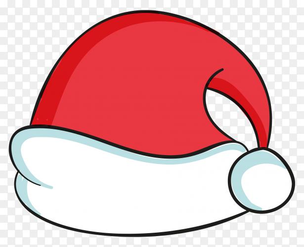 Flat design santa claus hat premium vector PNG