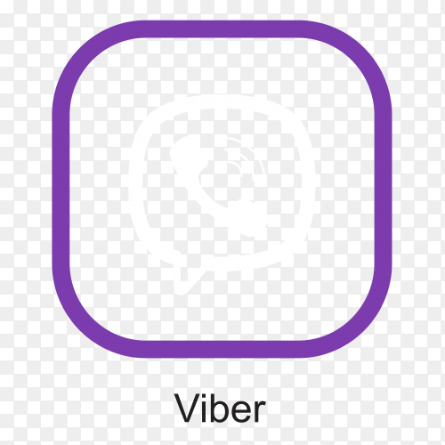 Flat design viber icon on transparent PNG