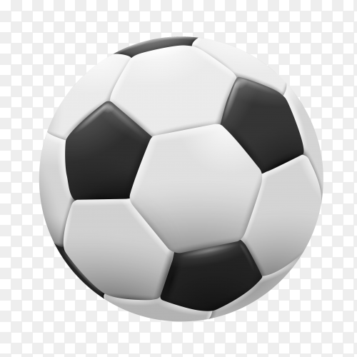 Football illustration on transparent background PNG