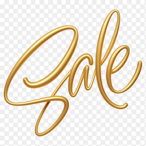 Golden sale lettering banner design premium vector PNG