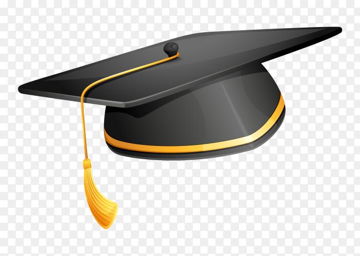 Graduation cap illustration on transparent background PNG