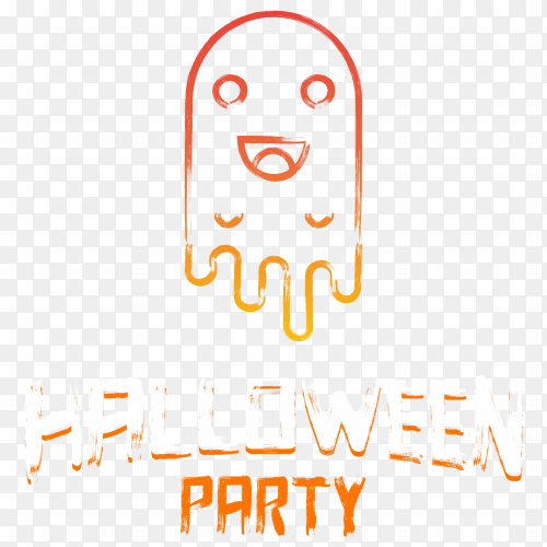 Halloween party design on transparent background PNG