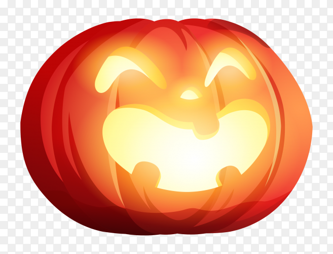 Halloween pumpkin design on transparent background PNG