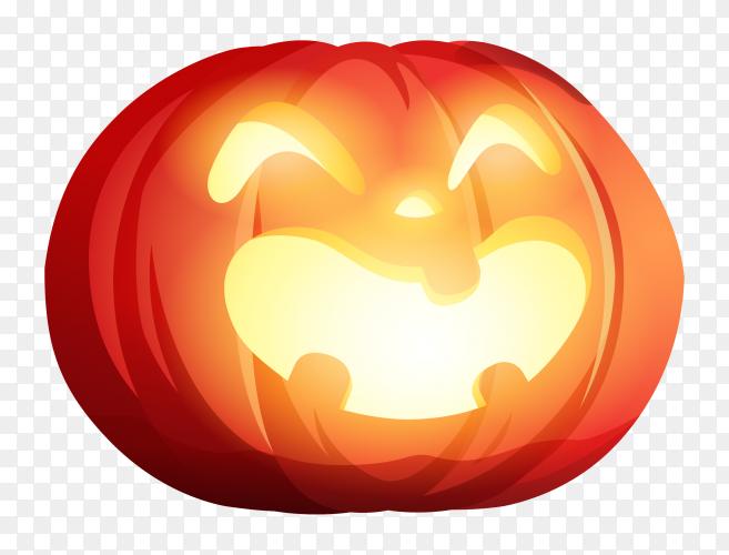 Halloween pumpkin design on transparent background PNG