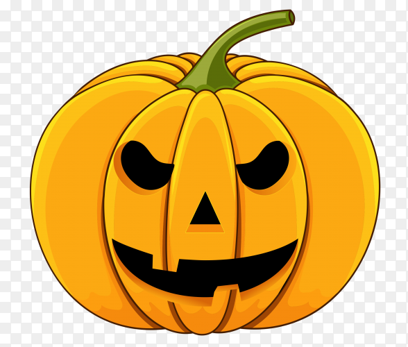 Halloween pumpkin isolated on transparent background PNG