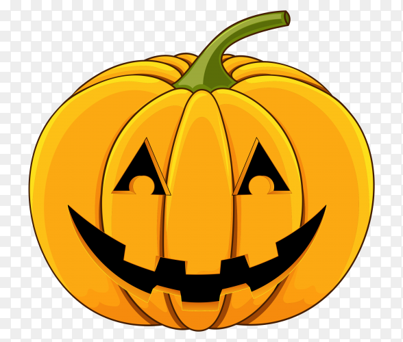 Halloween pumpkin isolated premium vector PNG