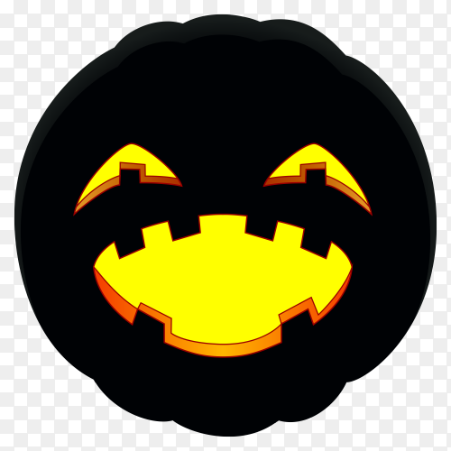 Halloween pumpkin with Smiling face on transparent background PNG