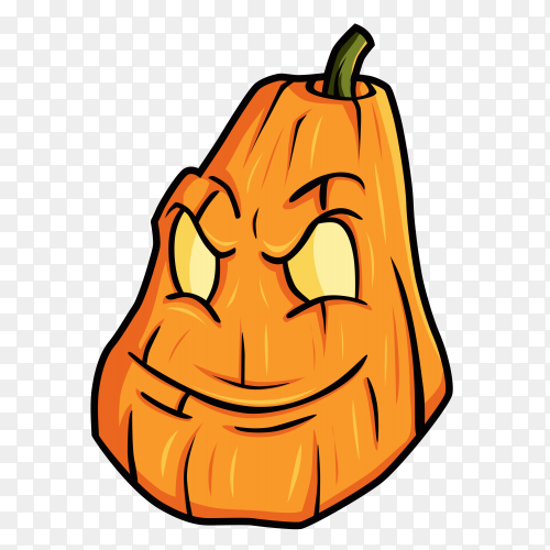 Halloween pumpkins cartoon on transparent PNG