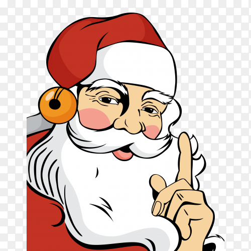 Hand drawn santa claus in red clothes premium vector PNG