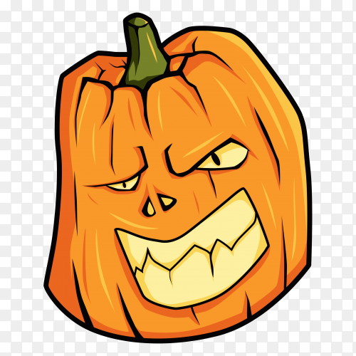 Hand drawn halloween pumpkin premium vector PNG