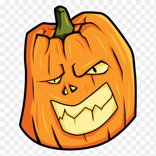 Hand drawn halloween pumpkin premium vector PNG