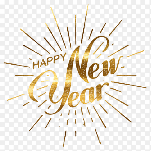 Happy 2021 new year poster design on transparent PNG