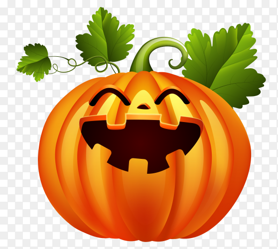 Happy Halloween pumpkin head on transparent background PNG