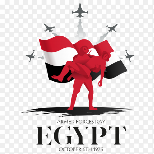 Happy armed force day egypt on transparent PNG