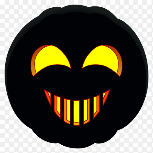 Happy halloween pumpkin with black color on transparent background PNG
