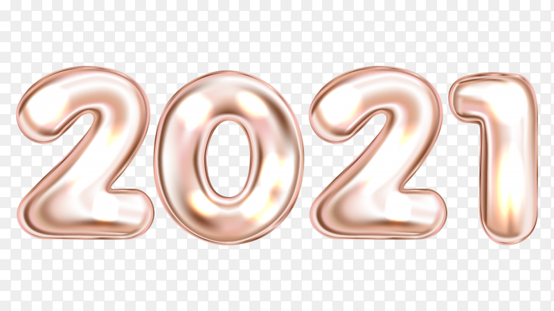 Happy new year 2021 clipart PNG