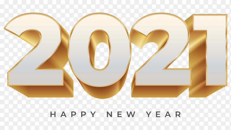 Happy New Year 2021 Illustration On Transparent Background Png Similar Png
