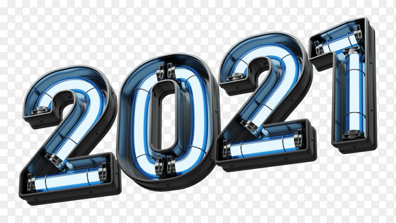 Happy new year 2021 isolated premium vector PNG