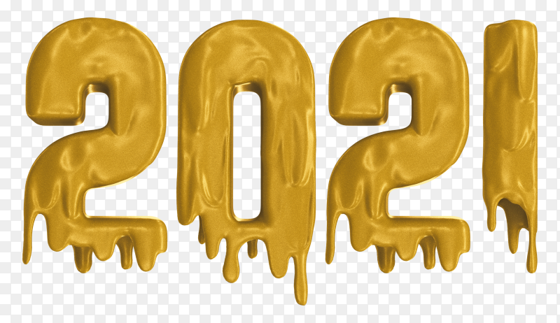 Happy new year 2021 template on transparent PNG