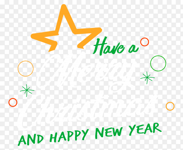 Have a merry christmas and happy new year premium vector PNG