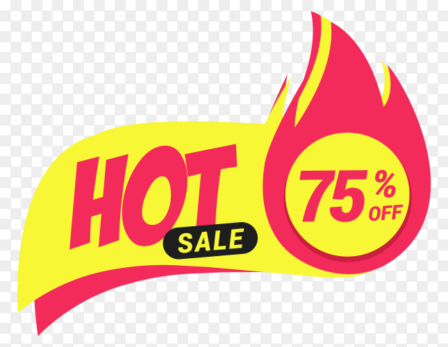 Hot sale colorful banner on transparent background PNG