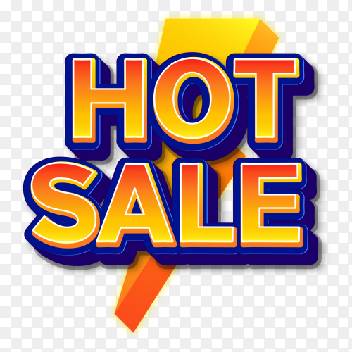 Hot sale text effects style on transparent background PNG