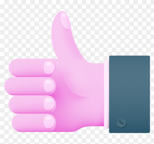 Human hand like icon illustration on transparent background PNG