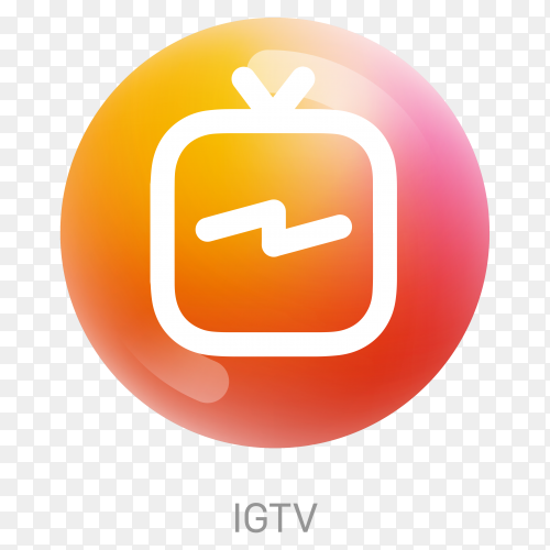 IGTV icon design illustration on transparent background PNG