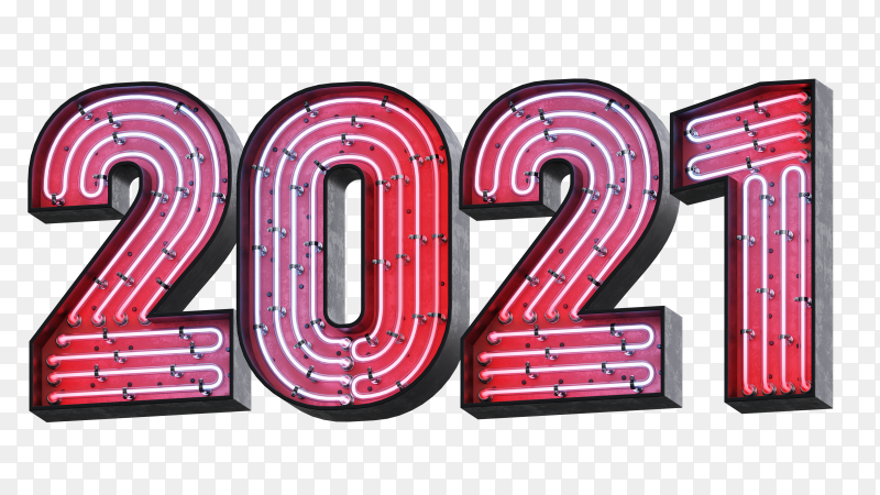 Illustration of 2021 numbers design premium vector PNG
