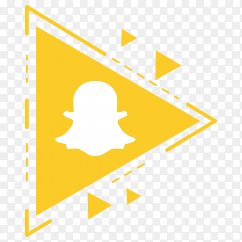 Illustration of Snapchat icon design on transparent background PNG