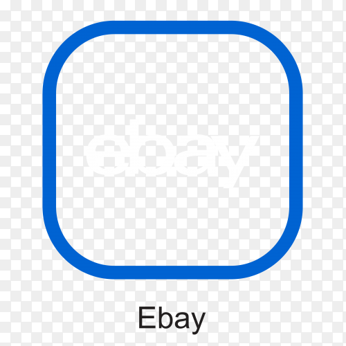 Illustration of ebay icon design premium vector PNG