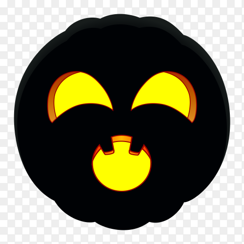 Illustration of halloween pumpkin design on transparent background PNG