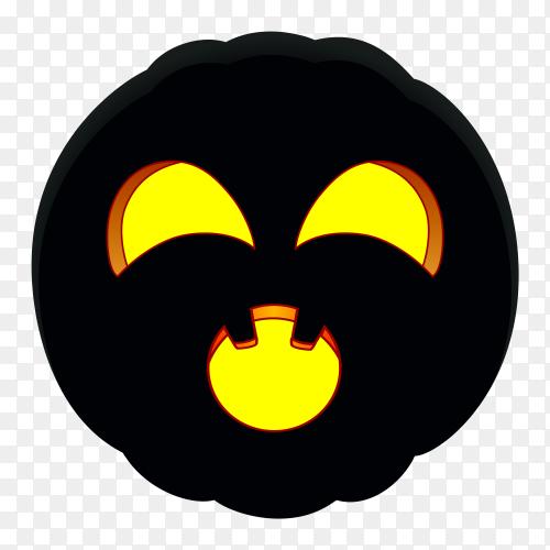 Illustration of halloween pumpkin design on transparent background PNG